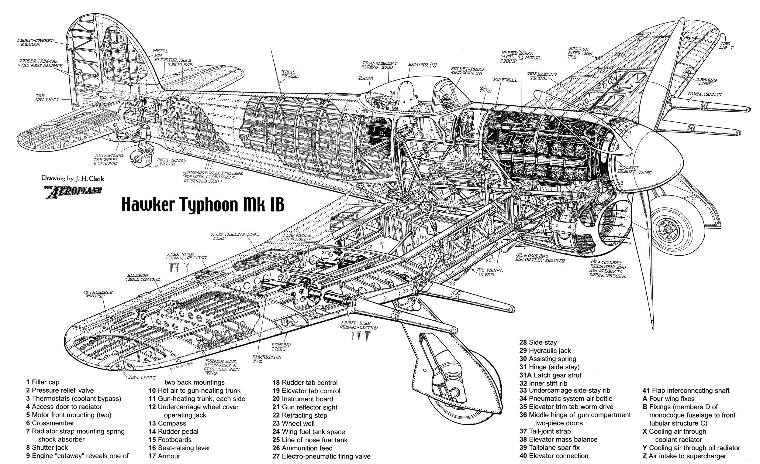 Cutaway Thursday Hawker Typhoon