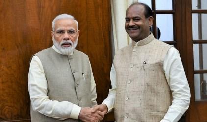 Om Birla with Prime Minister Narendra Modi.