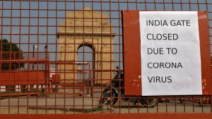 Covid19 outbreak and Lockdown of India Gate