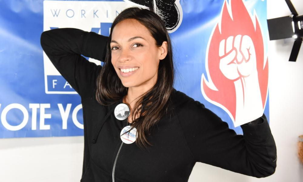 Rosario Dawson gets out the vote.