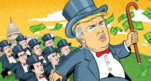 Donald Trump evil capitalist