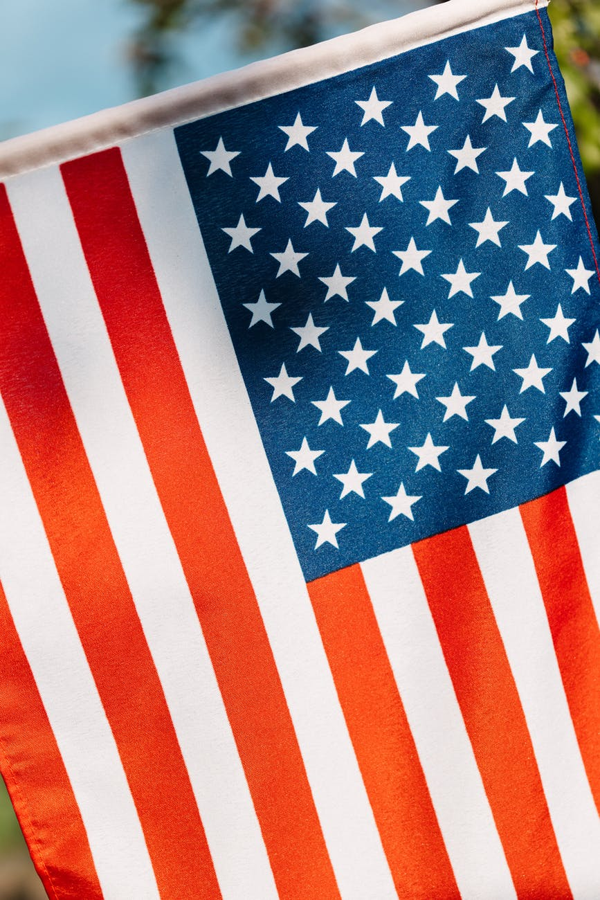 colorful american flag with stripes representing equity and endurance