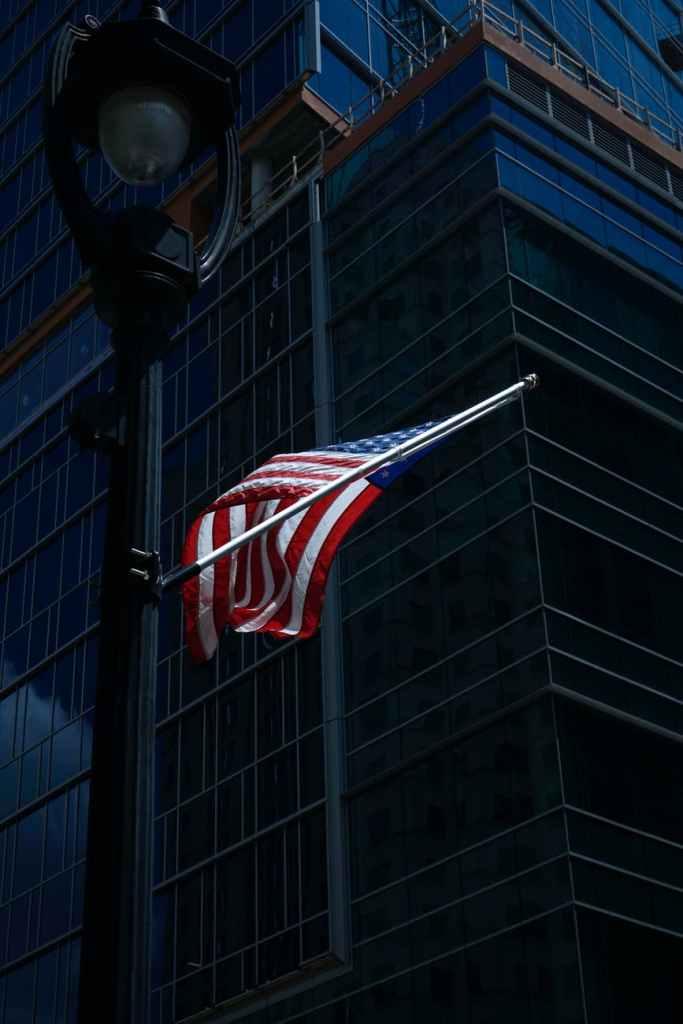 low angle photo of usa flag