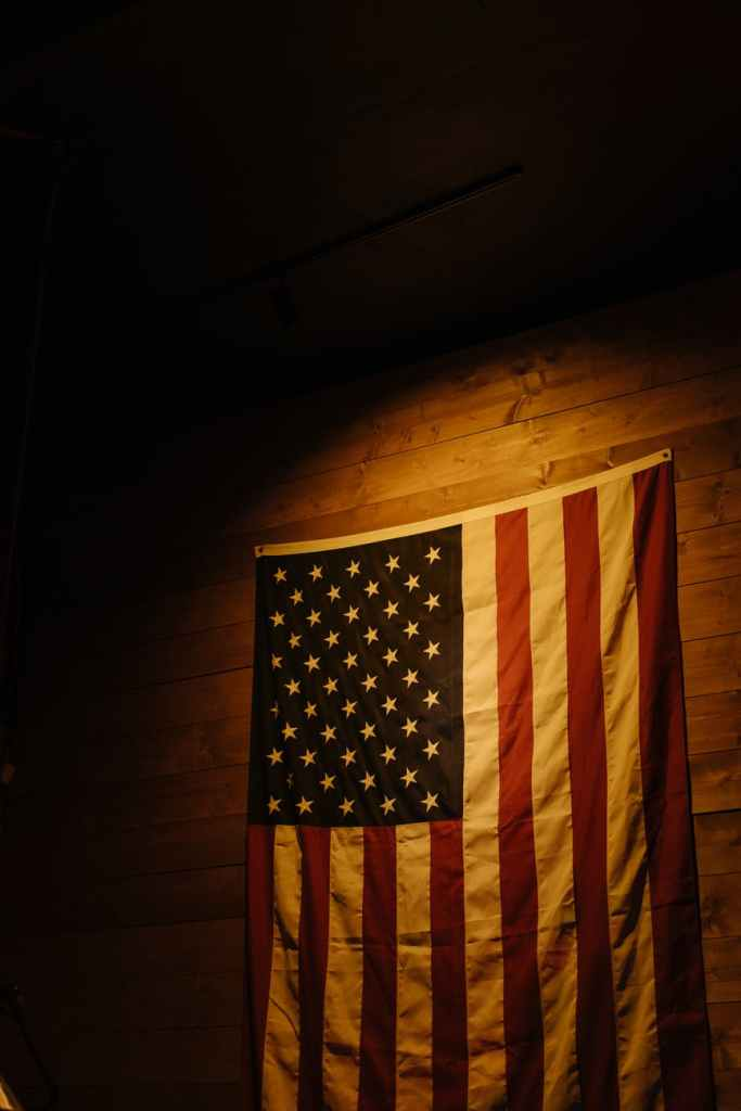 us a flag on wall