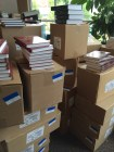 Boxes upon boxes of books