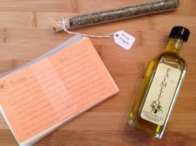Recipe cards, Herbs de Provence Olive Oil.