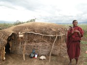 Our Masai guide in front of his home
