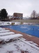 Early season swimming fun
