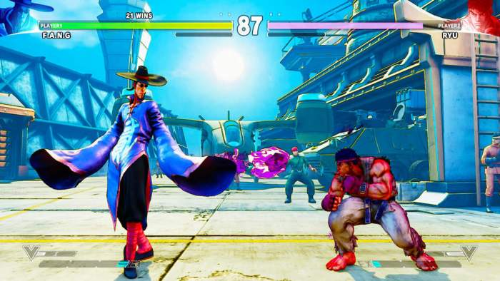 Fang vs. Ryu Street Fighter V
