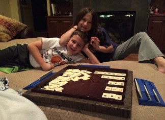 Meg and Roc Game Night