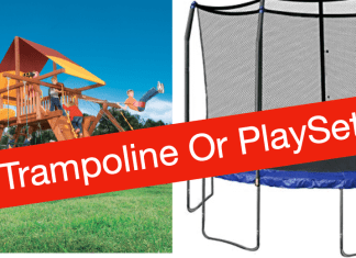 Trampoline or playset