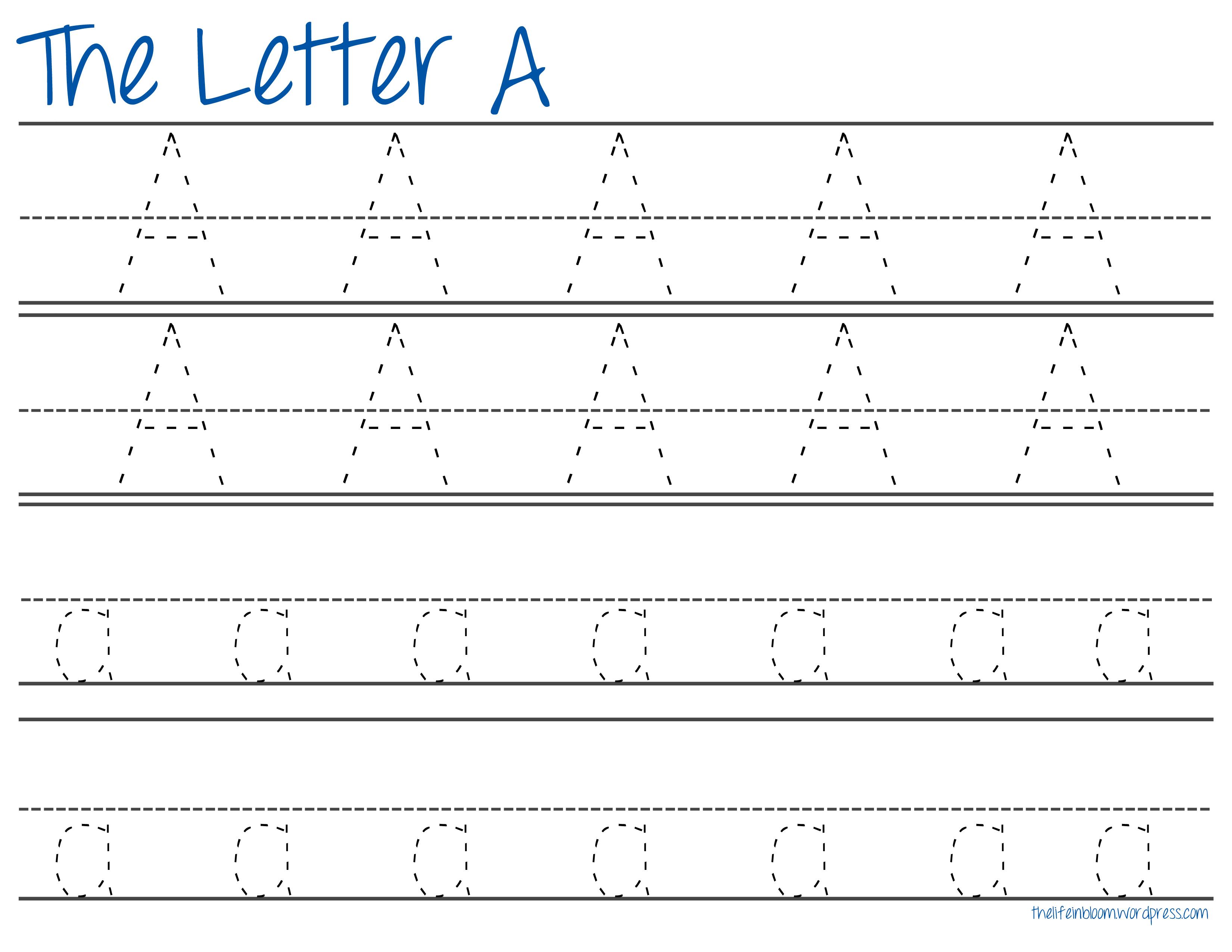 A Z Tracing Printables