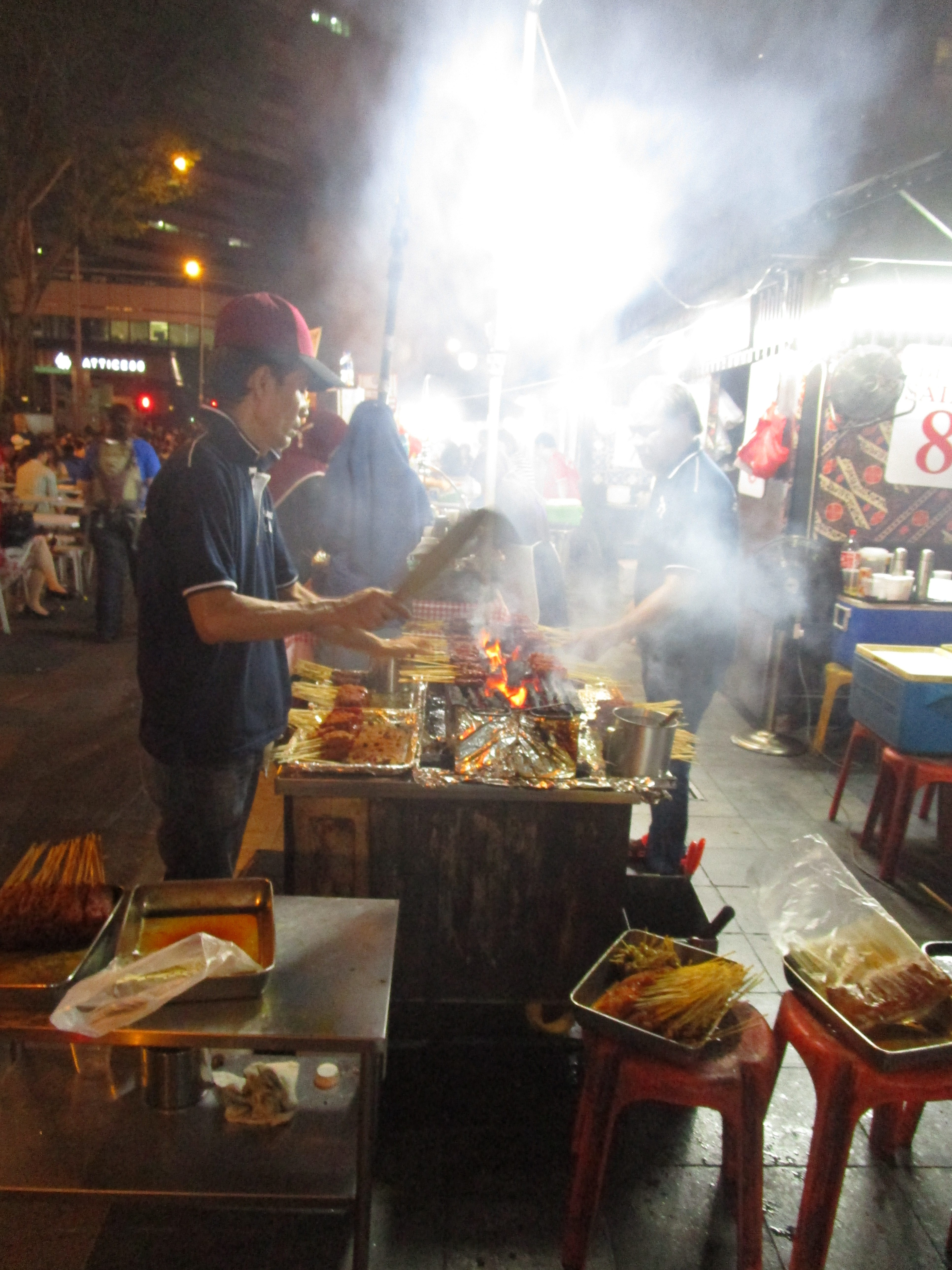 Barbecue at the Satay Club Singapore