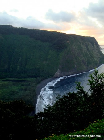 Sunset at Waipio Valley