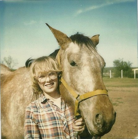 Me and Honey. If the glasses are any clue this is circa 1982.