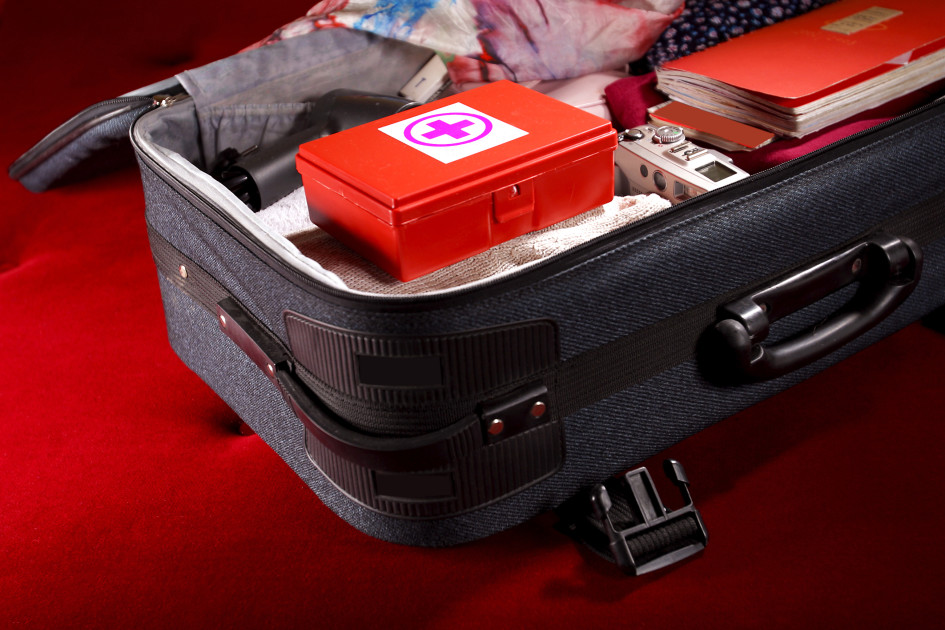 Suitcase with first-aid kit