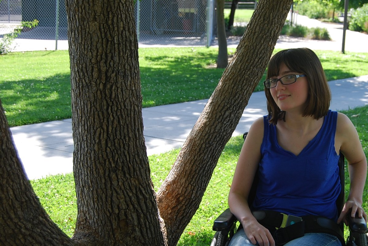 A girl on wheels