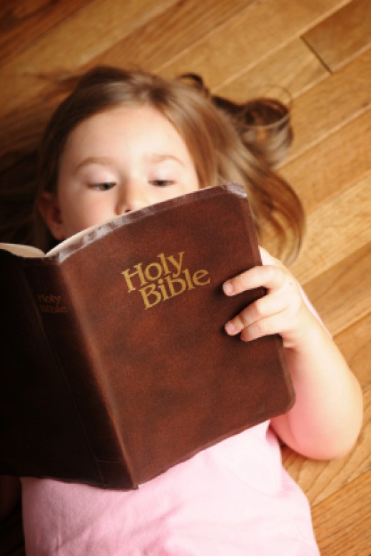 kid with a bible