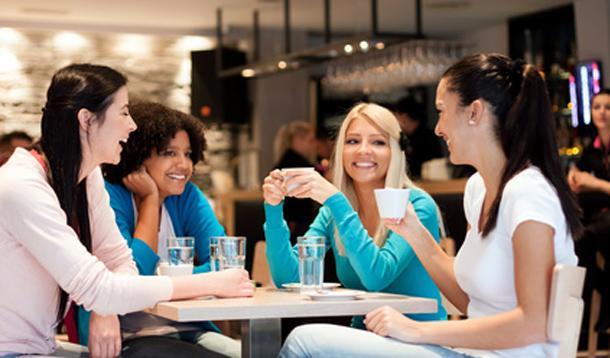 group of ladies talking