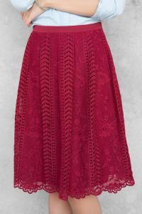 Francesca's - Cora Lace Midi Skirt