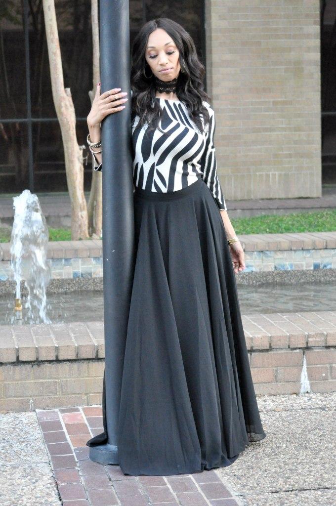 black maxi skirt for fall 2017