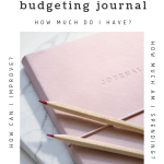 Image of a pale pink journal with pencils