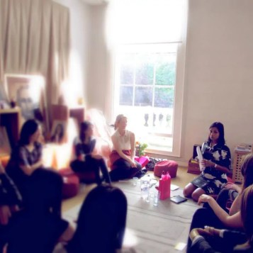 At the Meditation Room where I learnt Atma Kriya Yoga in London.