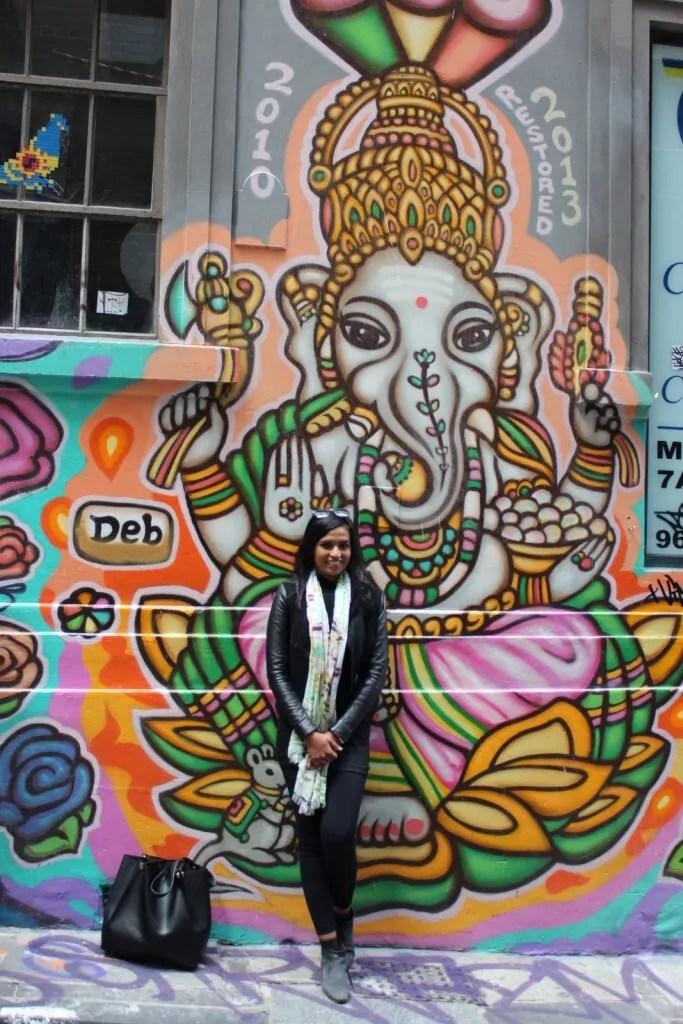 GANESHA GRAFFITI IN MELBOURNE HOZIER