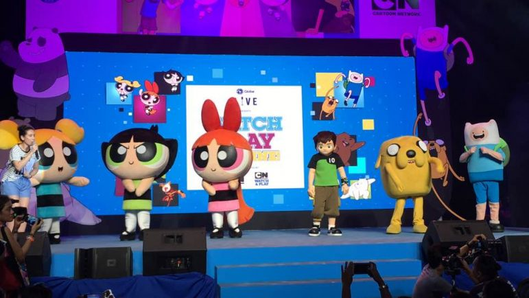 The Powerpuff Girls, Ben 10 and Jake and Finn at the #CreatePlaytime #GlobeCN event.