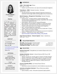 CV bueno ejemplo