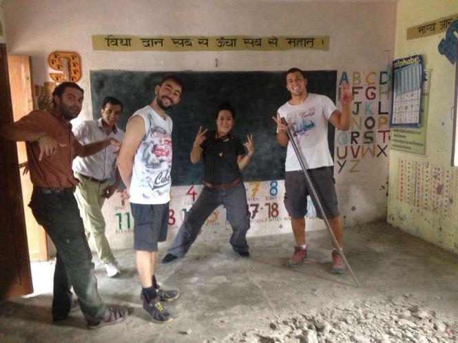 India volunteer renovation