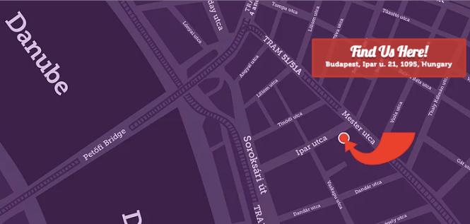 Budapest Hostel Map
