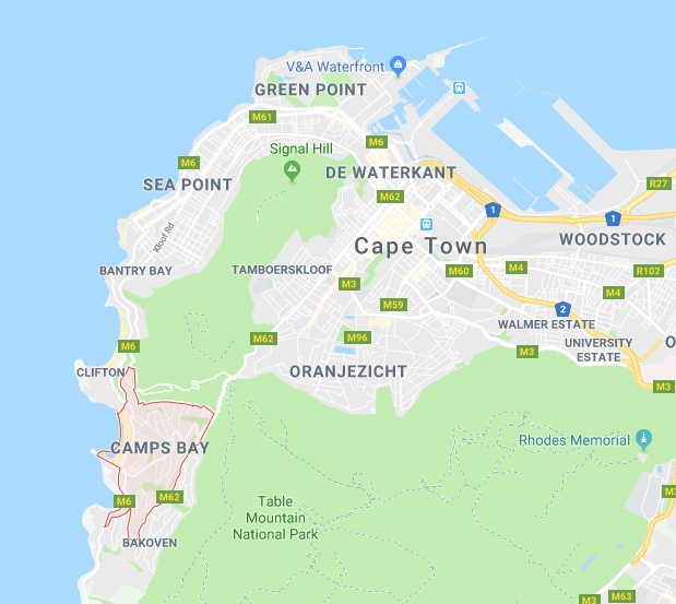 CAMPS BAY MAP ENGLISH
