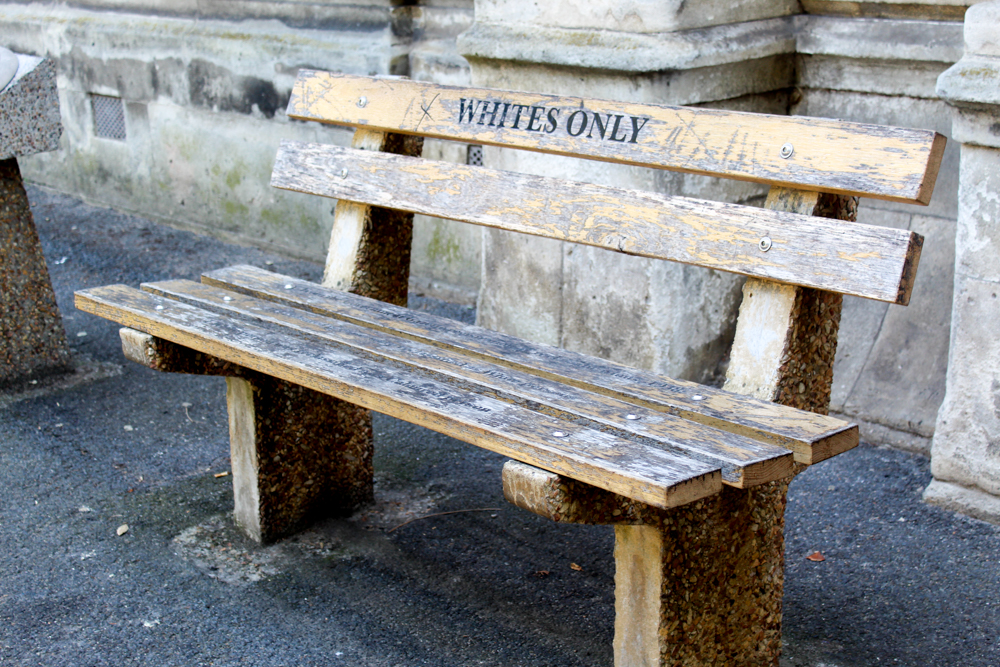 Whites only bench - Cape Town - South Africa