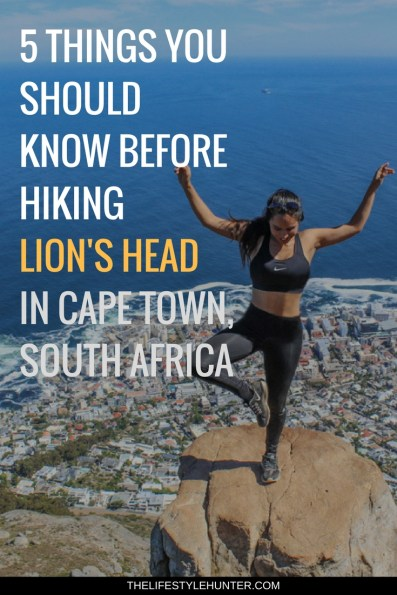 #thelifestylehunter #pilarnoriega #Travel : lions head, lion's head, hiking, hike, table mountain, Africa, Cape Town, Sea Point Promenade, Cape Town Hotel, trendy, Devils Peak, Kruger safari, Stellensbosh, Hermanus, Cape Point, Garden Route, Groot Constantia, Kristenbosch, Boulders Beach, Boo-Kaap, Clifton Beach, V&A Waterfront, Camps Bay, Green Point Stadium, sky diving, travel