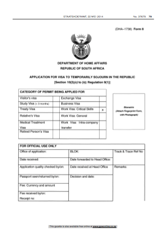 Critical Skills Visa South Africa - Application
