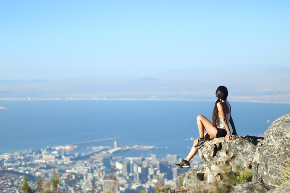 Table Mountain: exiting India Venster hike in Cape Town, South Africa