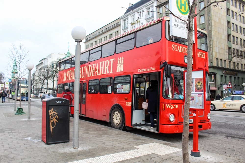 Hamburg - Germany - Europe-The Red Bus (Die Roten Doppeldecker)