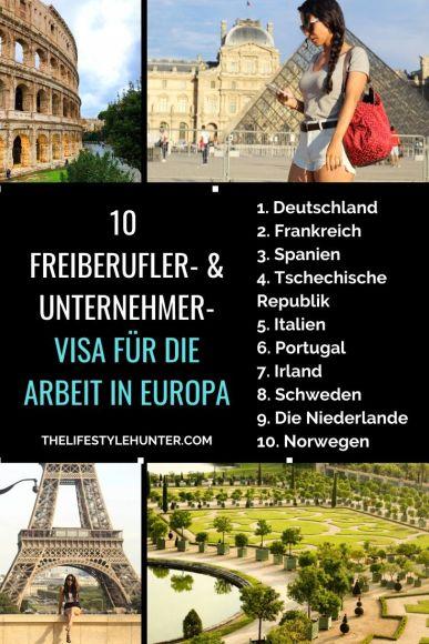 Freiberufler- Unternehmer-Visa Arbeit Europa