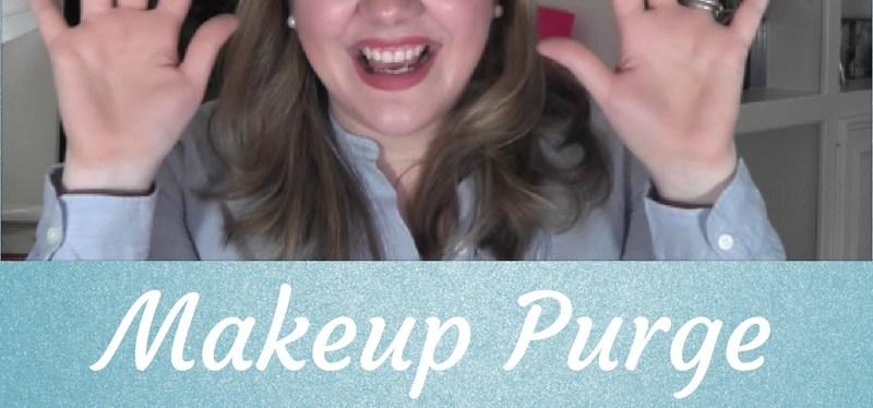 January Cleaning/Organizing Makeup Purge