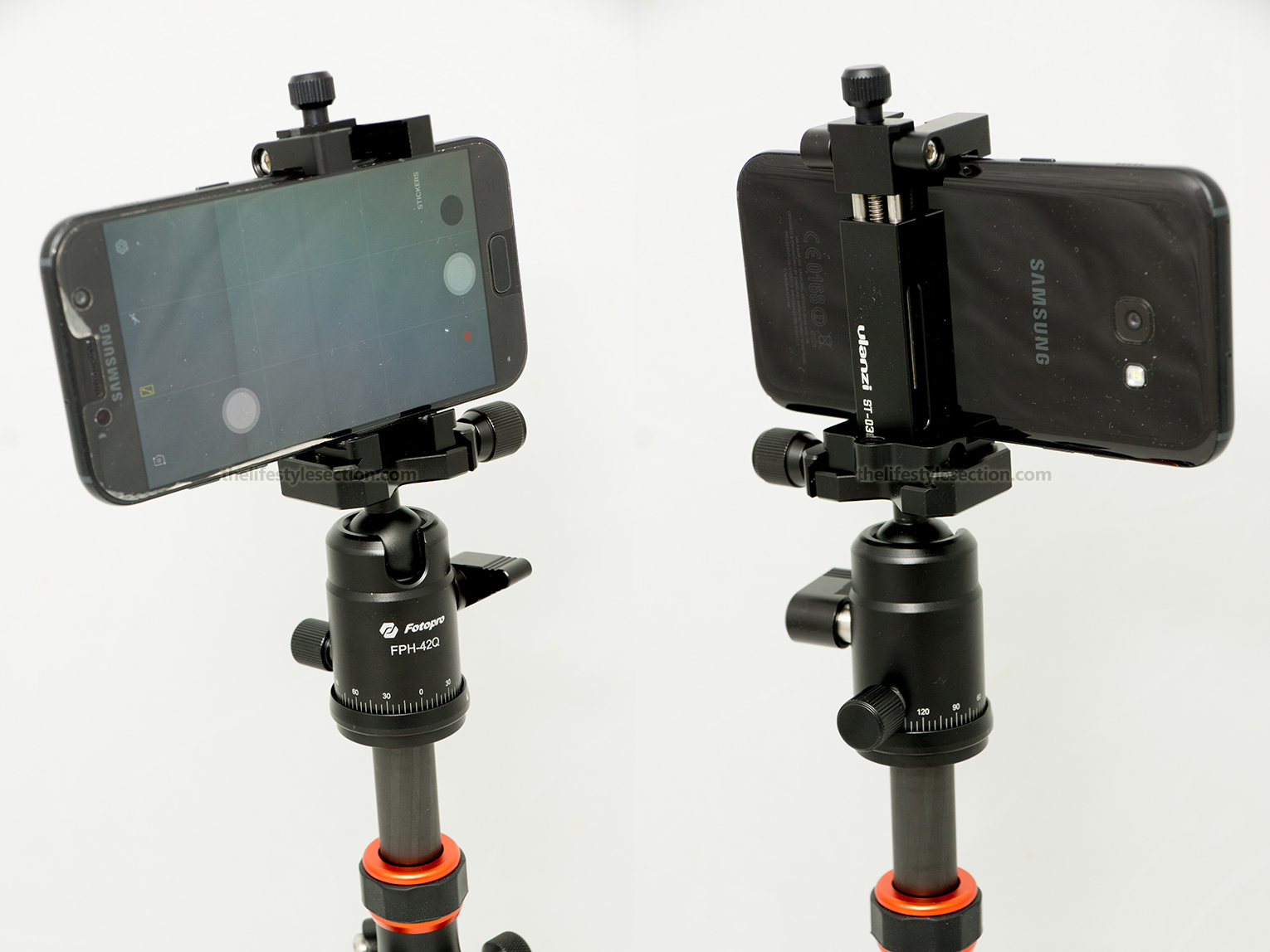 Ulanzi St 03 Best Mobile Phone Tripod Mount The Lifestyle Section Fotopro X Go Plus Mounted On A Mini