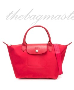 Longchamp Le Pliage Neo Small Shorthandle- Red