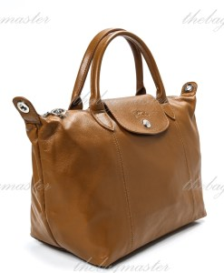 Longchamp Le Pliage Cuir Small - Brown