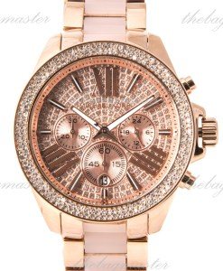 Michael Kors Chronograph Wren Blush and Rose Gold-Tone Stainless Watch MK6096