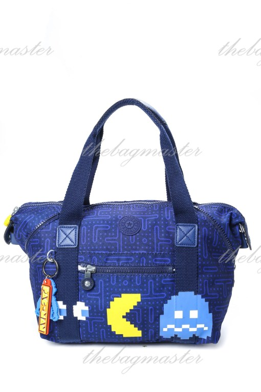 Kipling Art Pac-Man Medium Tote Bag – Blue