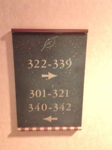 Which way to room 303?  For all researchers, I hope our information is clearer than this sign.