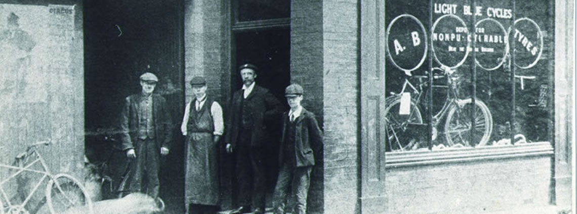 image of the light blue shop c.1900