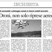 La concezione di lavoro aereo col drone
