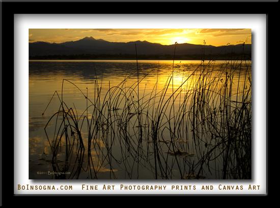 Twin Peaks Golden Sunet Lake View