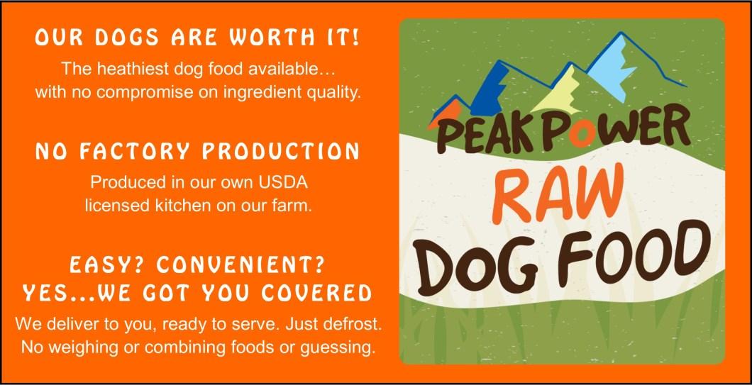 Buy Peak Power Raw Dog Food Online